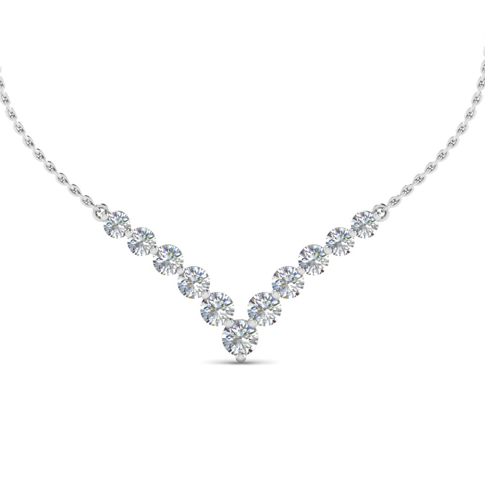 0.70 Carat Graduated V Necklace
