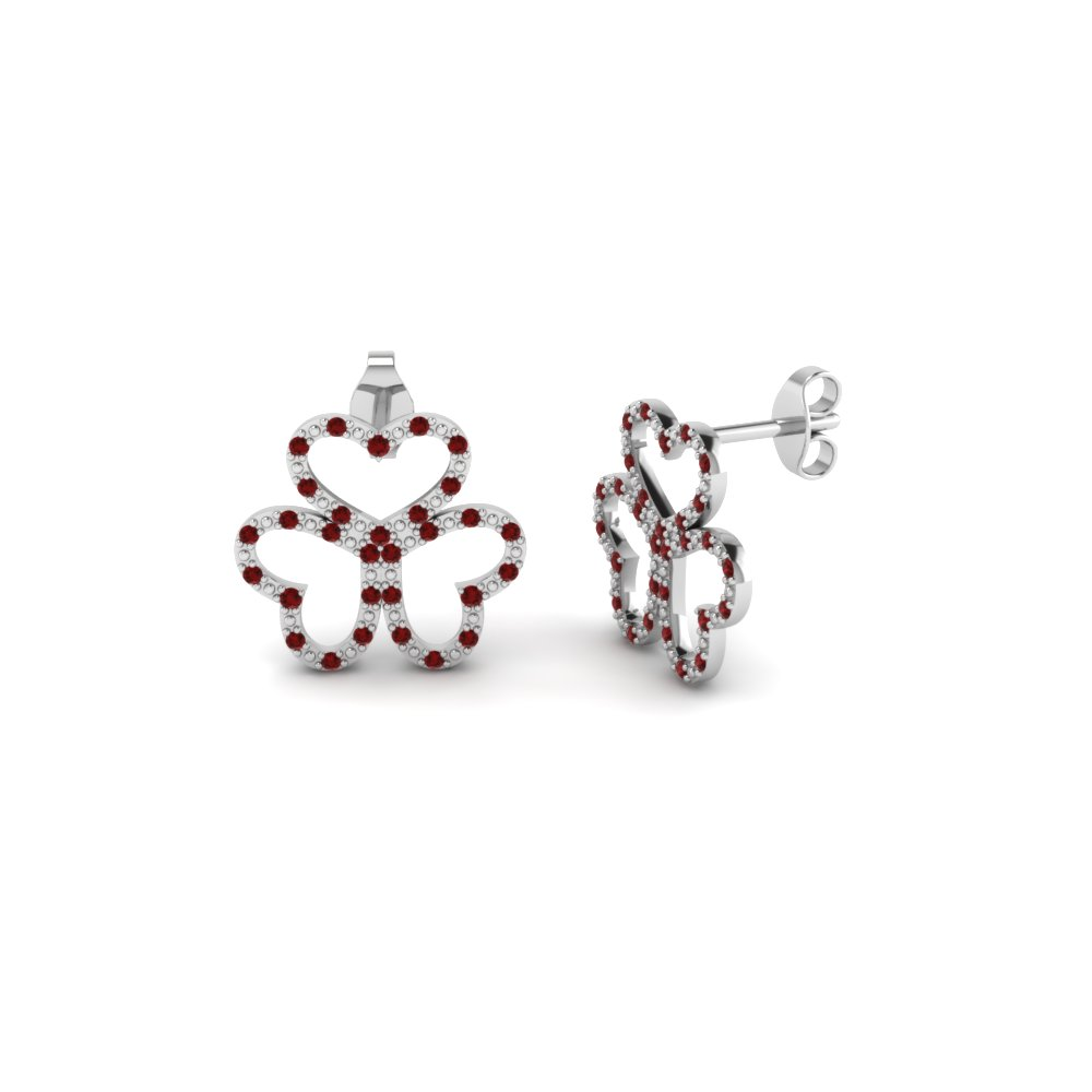 3 Open Heart Stud Earring