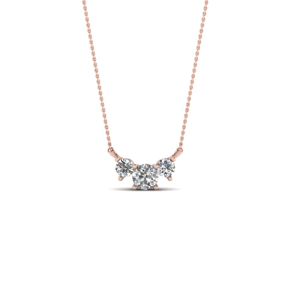 3 round diamond pendant necklace in 14k rose gold fascinating diamonds 3 round diamond pendant necklace in fdpd894 nl rg aloadofball Gallery