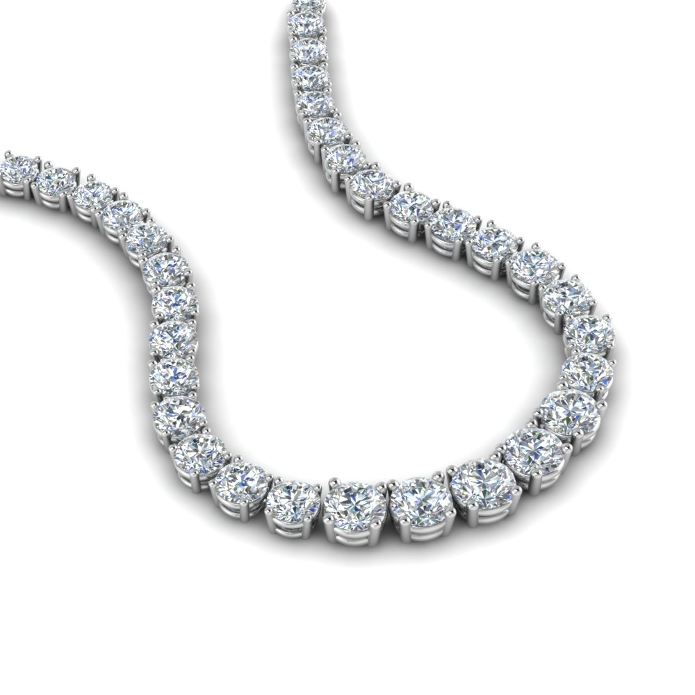 5 carat Eternity Diamond Necklace