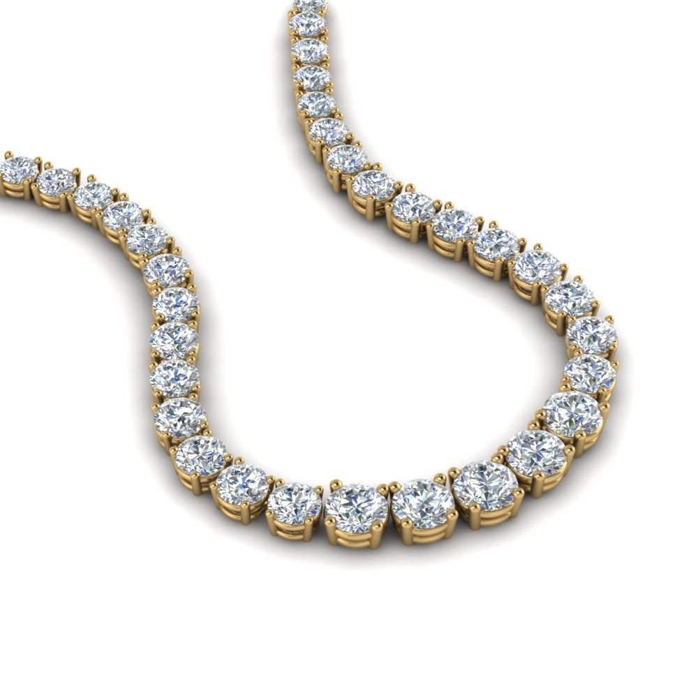 5 Carat Round Graduated Diamond Necklace