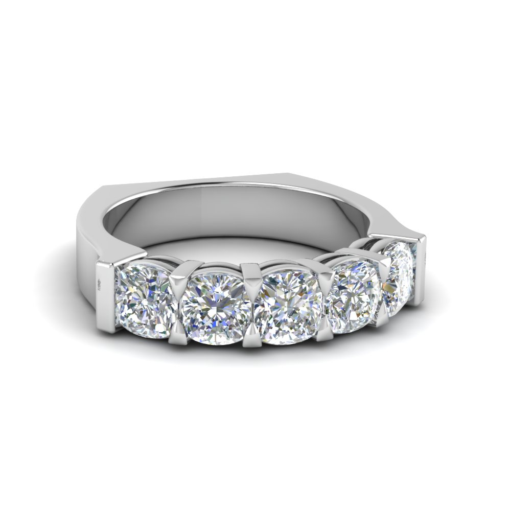 euro shank cushion cut expensive wedding anniversary ring - Extravagant Wedding Rings
