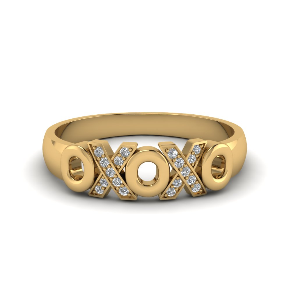 XO Diamond Wedding Band