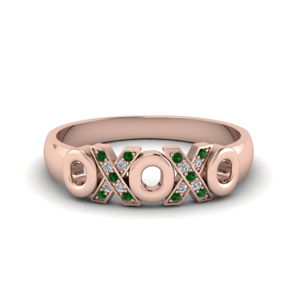 Emerald Womens Wedding Band