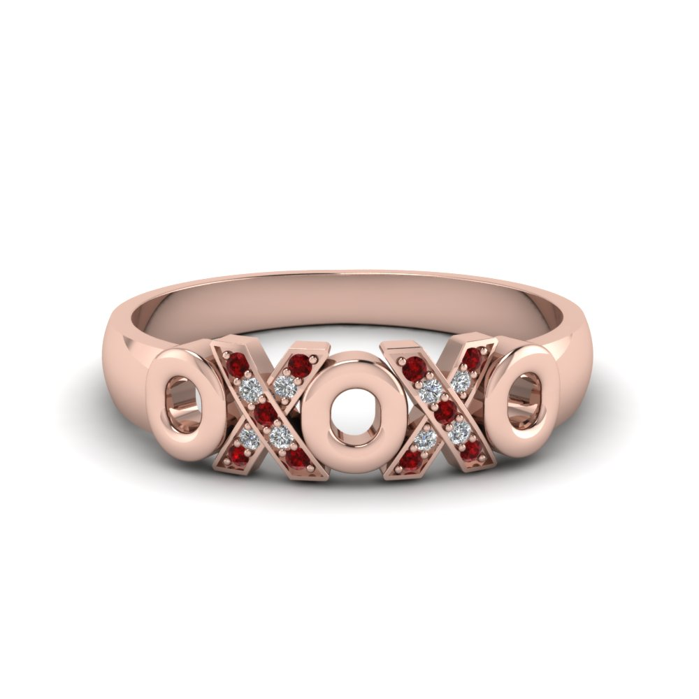 Womens Ruby Wedding Band