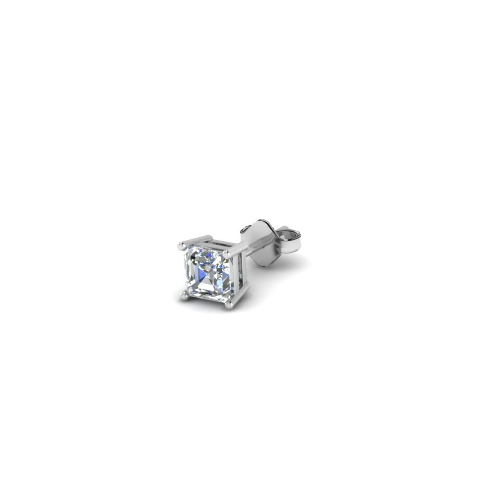 Cher Cut Diamond Stud Mens Earrings In 14k White Gold Fdms4as25ct Nl Wg