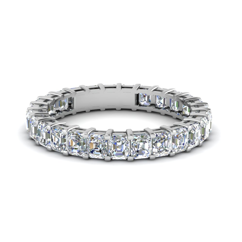 Asscher Eternity Diamond Band