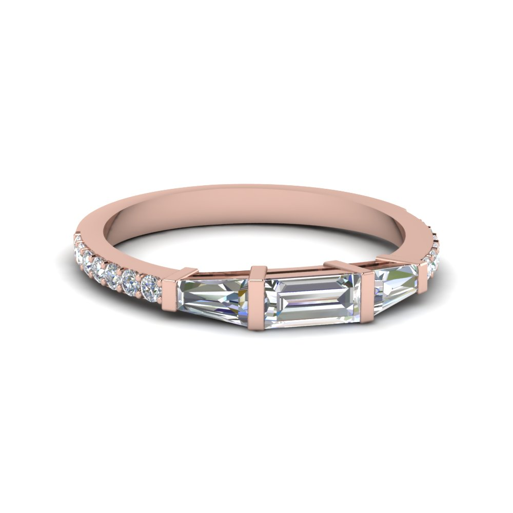 Baguette And Round Diamond Thin Band Fascinating Diamonds