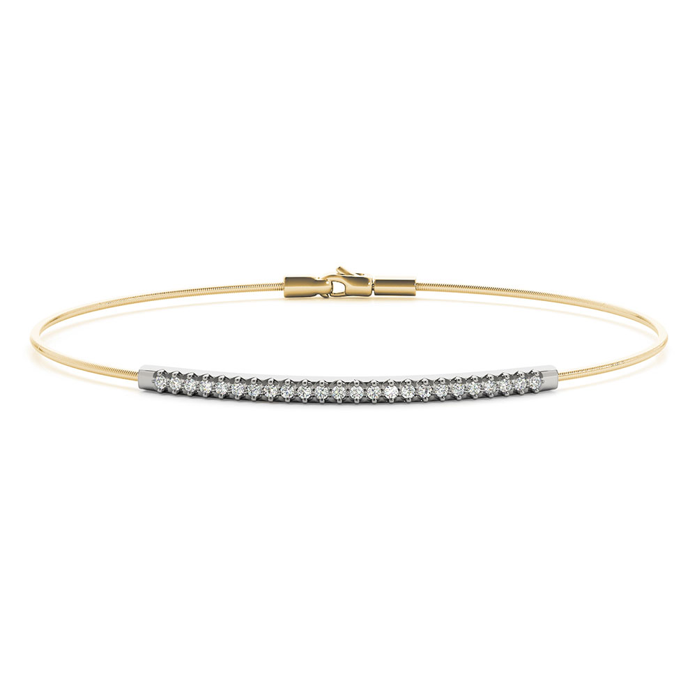 bar design diamond italian bracelet in FDOBR70493 NL YG