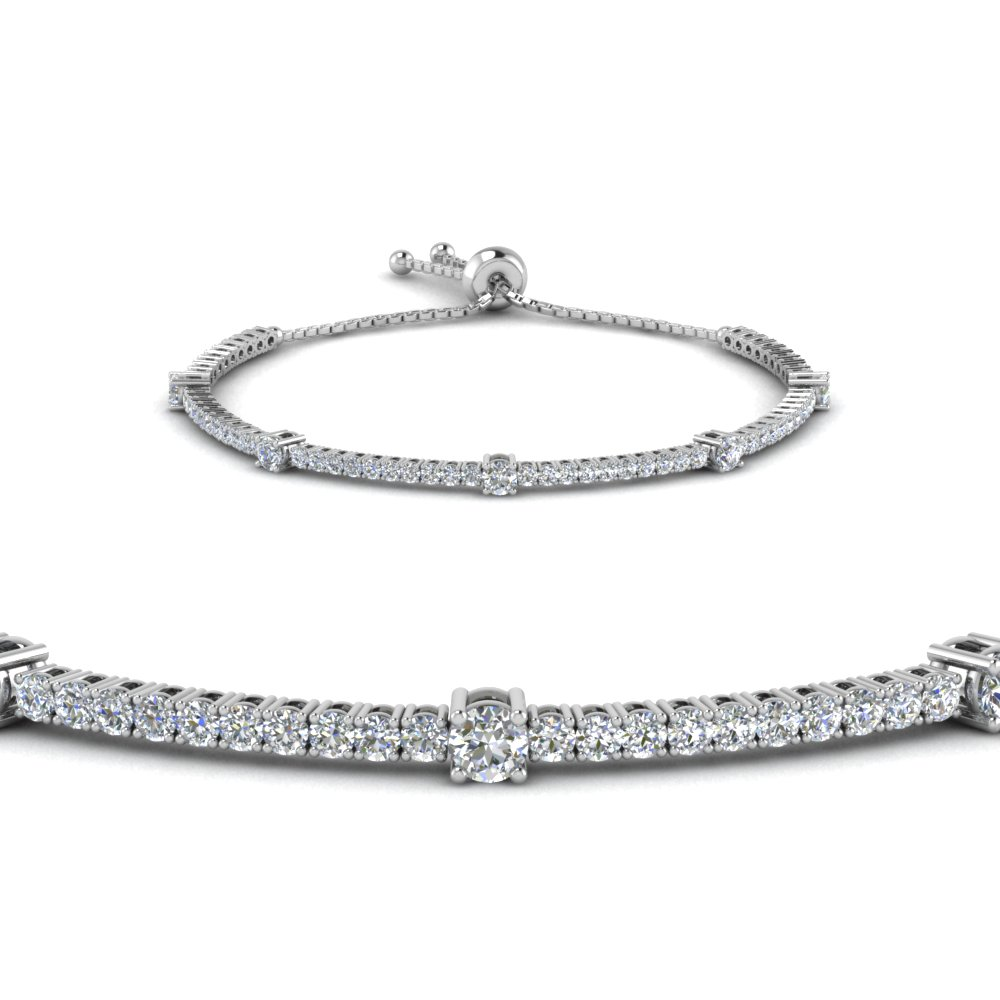bolo classic design diamond bracelet in FDBRCT2271732SBANGLE2 NL WG