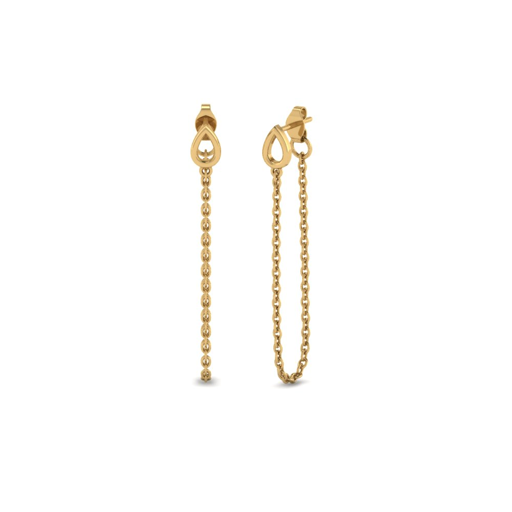 Chain Gold Drop Earring