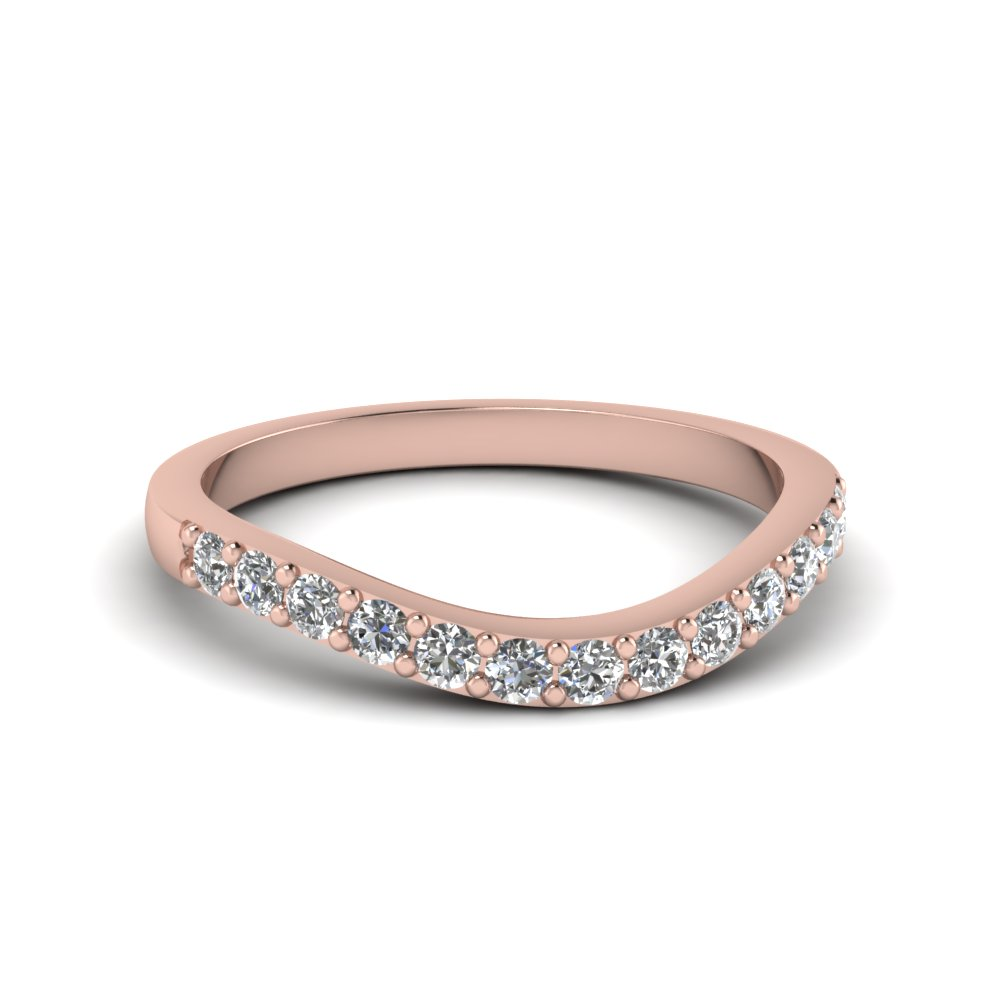 curved diamond wedding ring for women in 14k rose gold fdens2255b nl