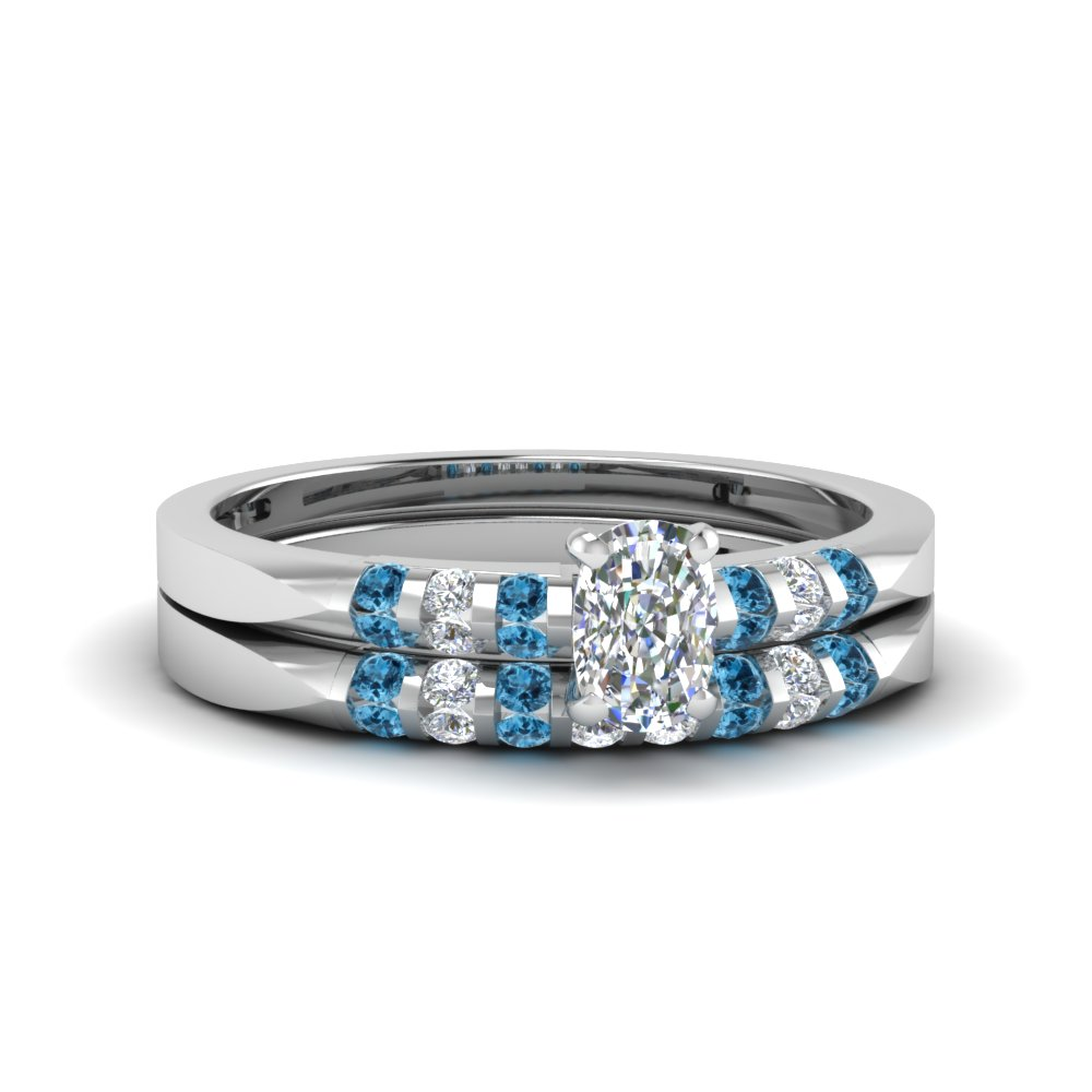 Flush Bar Set Diamond Bridal Ring Sets