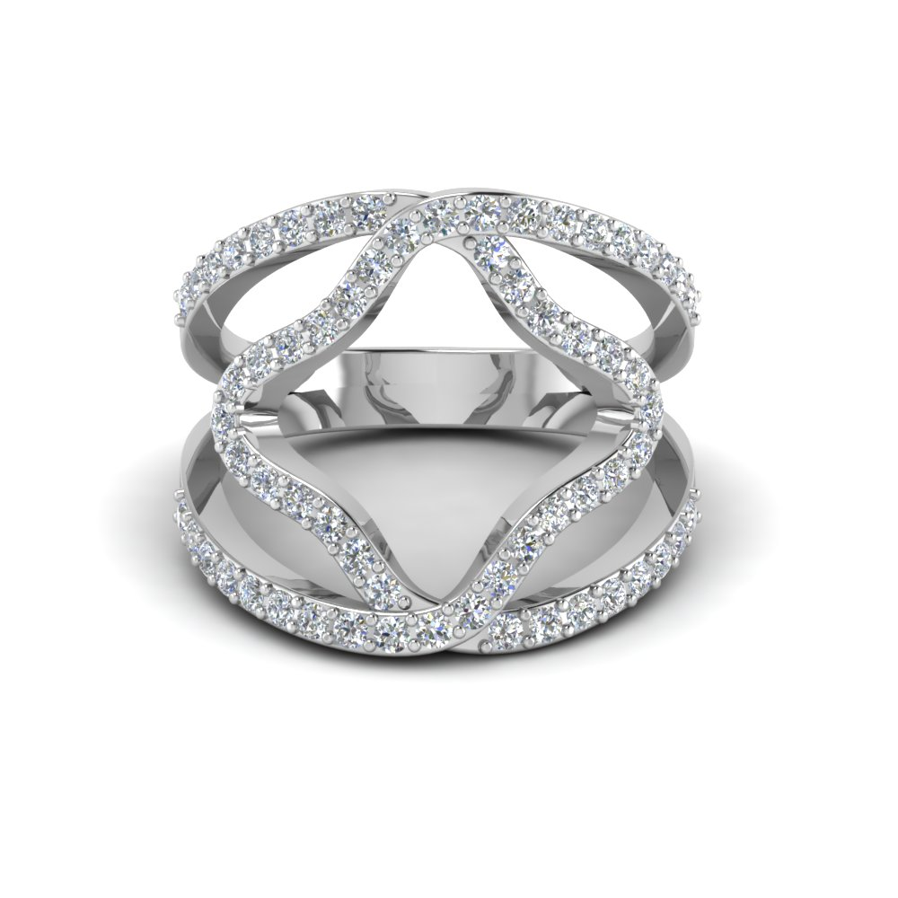 double band open abstract diamond ring fascinating diamonds