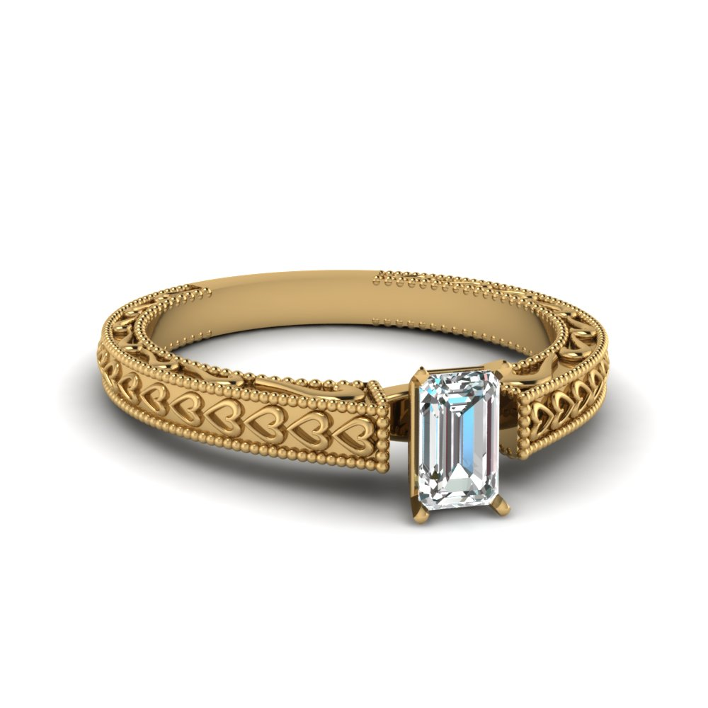 Custom Design Your Emerald Cut Solitaire Engagement Rings