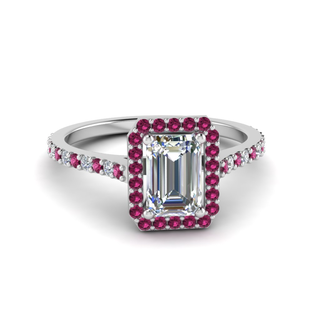 emerald cut halo engagement ring fascinating