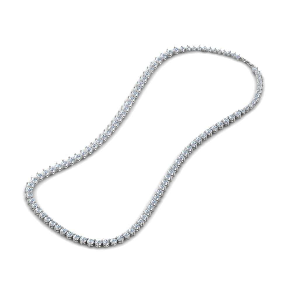 7 Carat Round Diamond Necklace