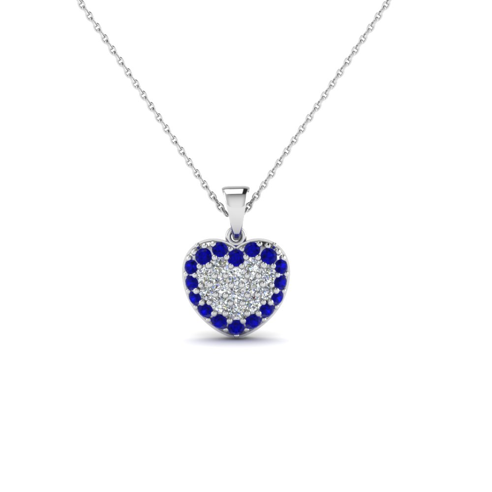 Get latest designs of sapphire heart pendant necklaces fascinating gold sapphire heart pendant necklace aloadofball Gallery