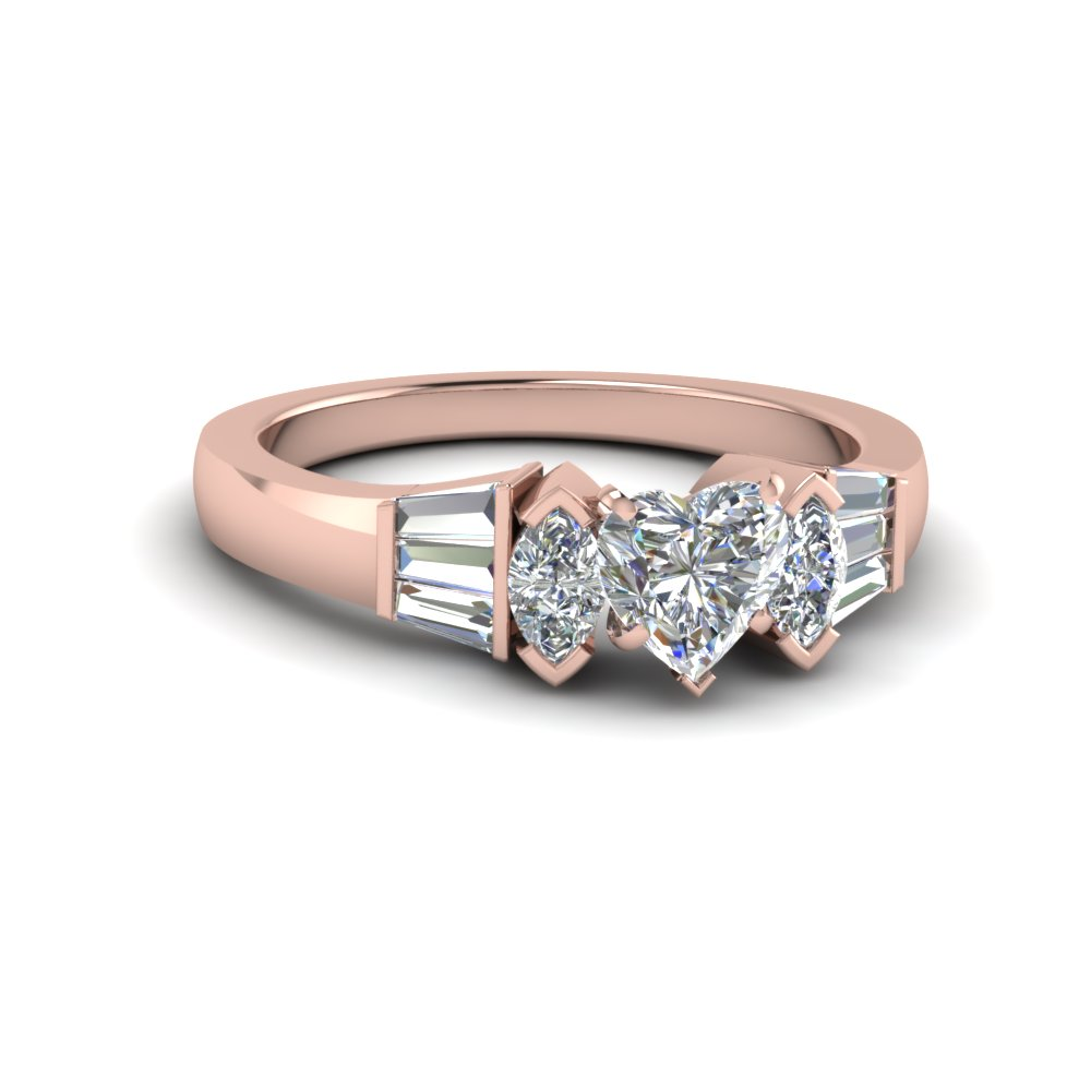 Certified Heart Shaped Diamond Ring