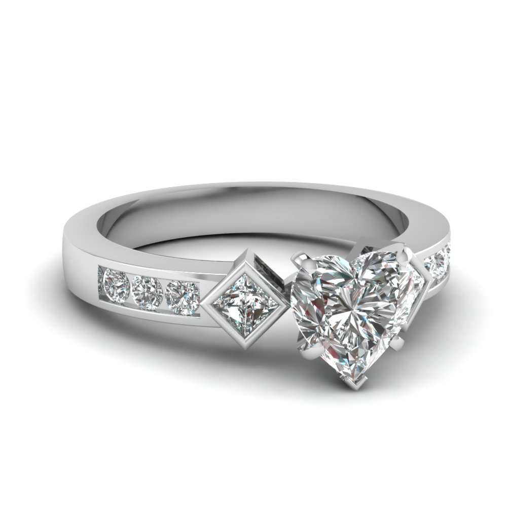 Kite Set Princess and Heart diamond Ring