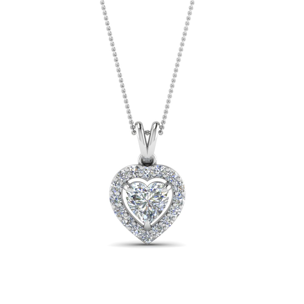 Heart Corona Diamond Pendant