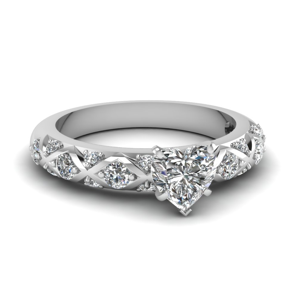 0.50 Ct. Heart Shaped Diamond Ring For Her
