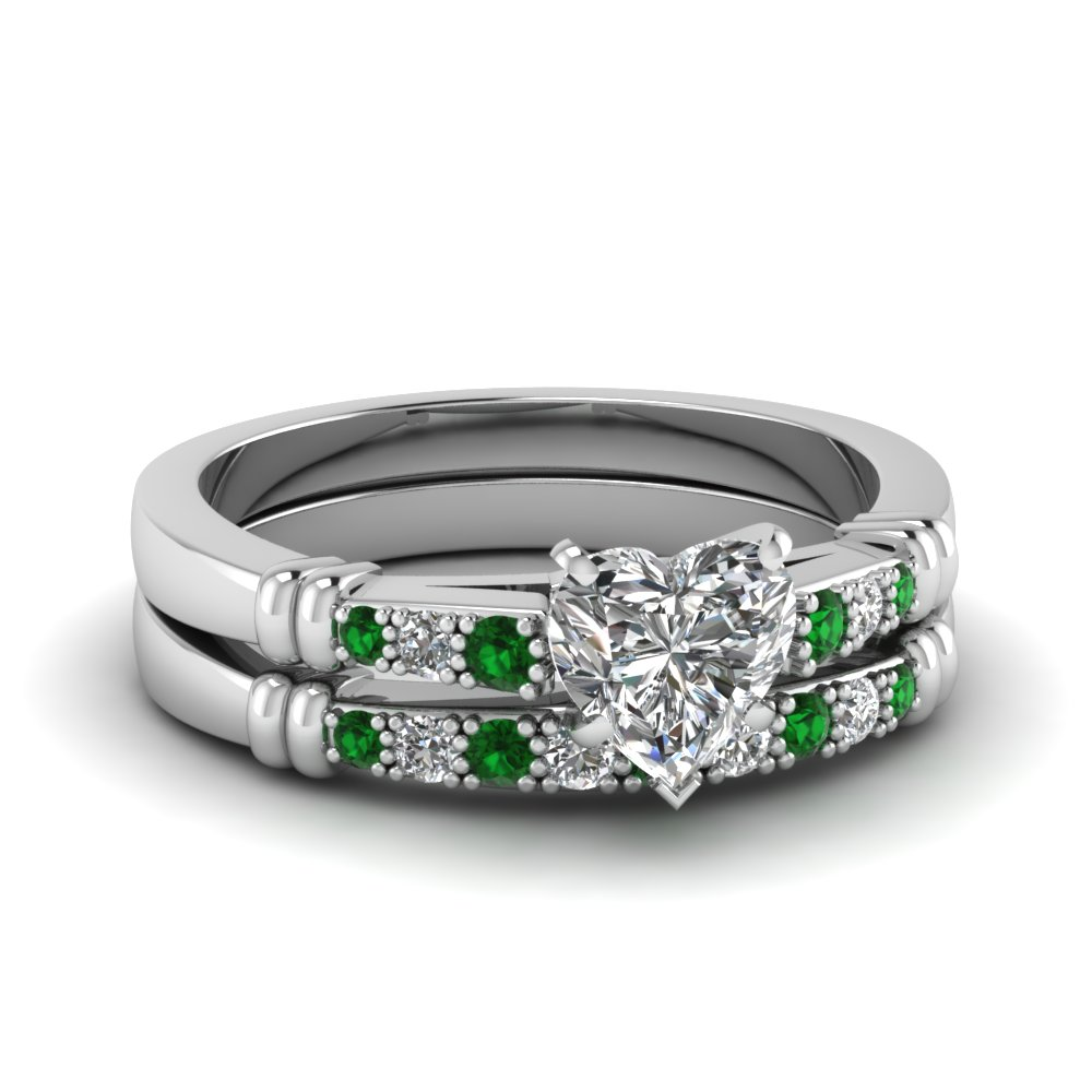 Pave and Bar Set diamond bridal sets