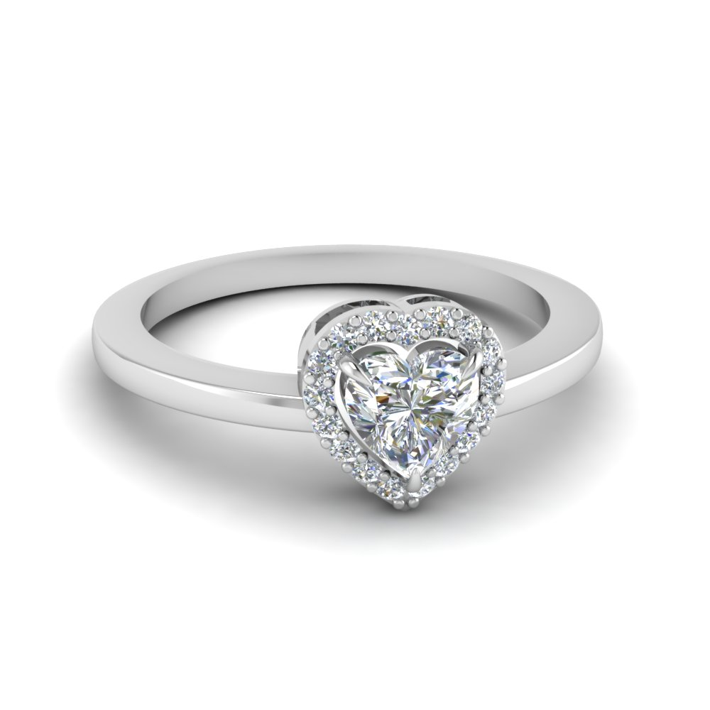 affordable heart halo ring fascinating diamonds