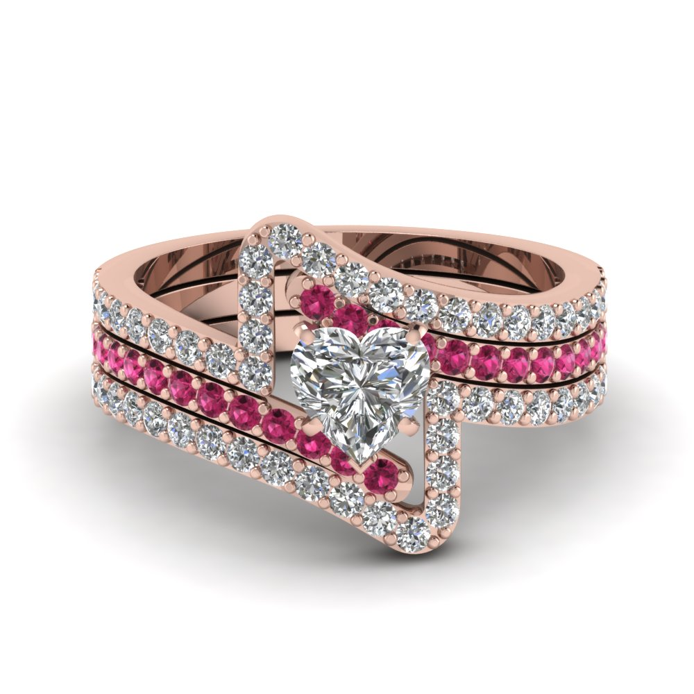 rings bridal trio wedding ring sets fascinating diamonds