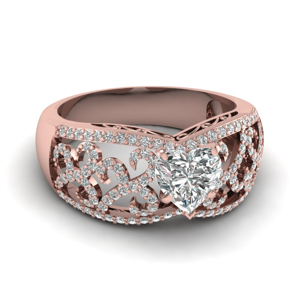 Embraced Filigree Ring