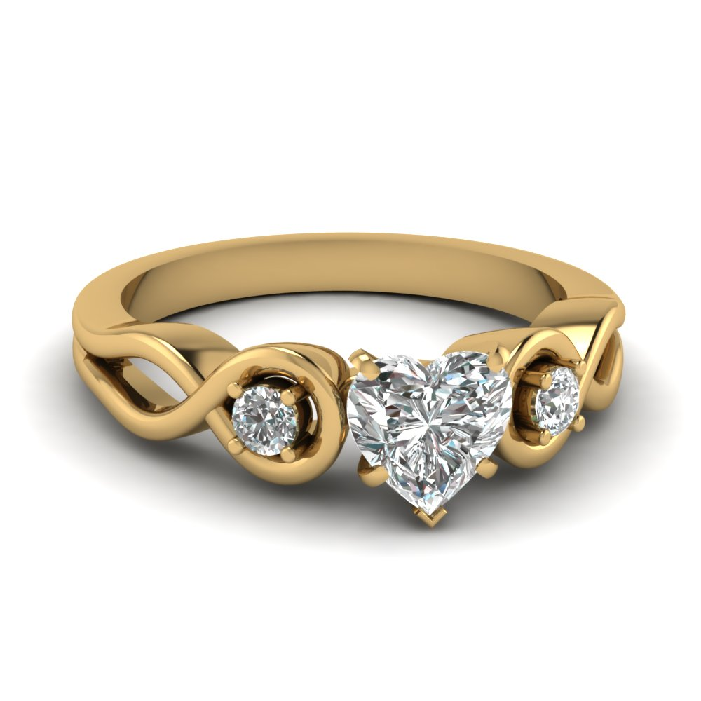 affordable 3 stone heart shaped engagement rings