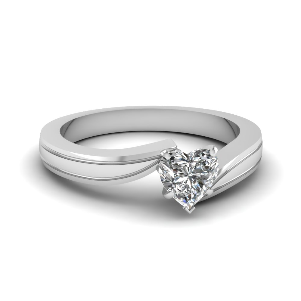 Twist Solitaire Diamond Ring