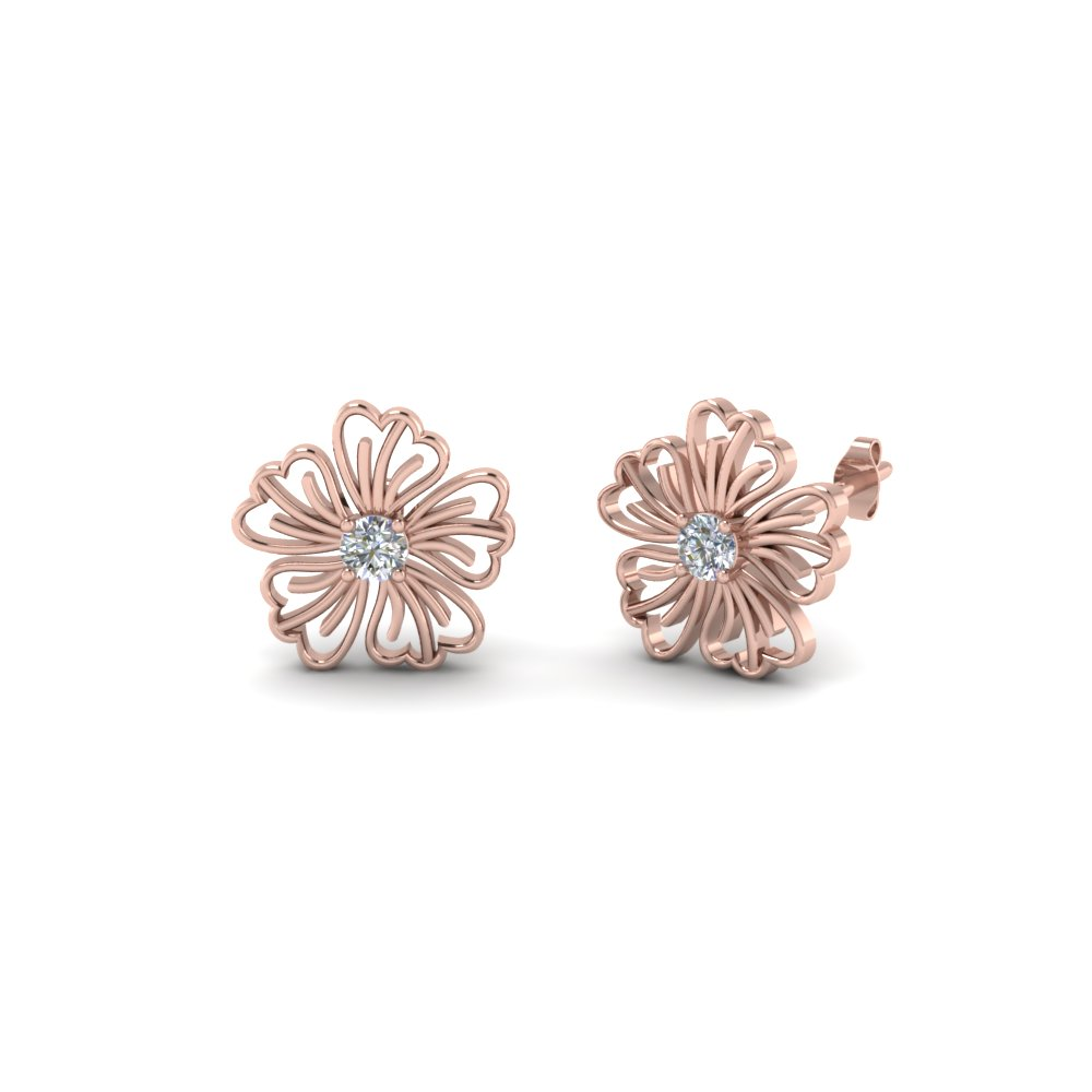Hibiscus Diamond Earring<