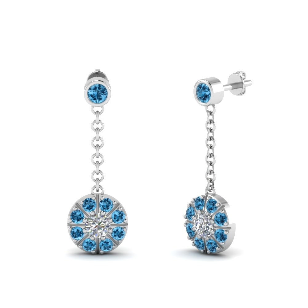 Browse Designs Of Blue Topaz Dangle Earrings| Fascinating Diamonds