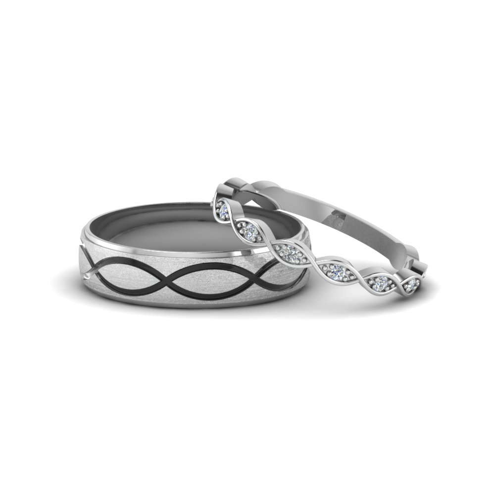set ring platinum weding matching hers and wedding love bands elegant his of her i