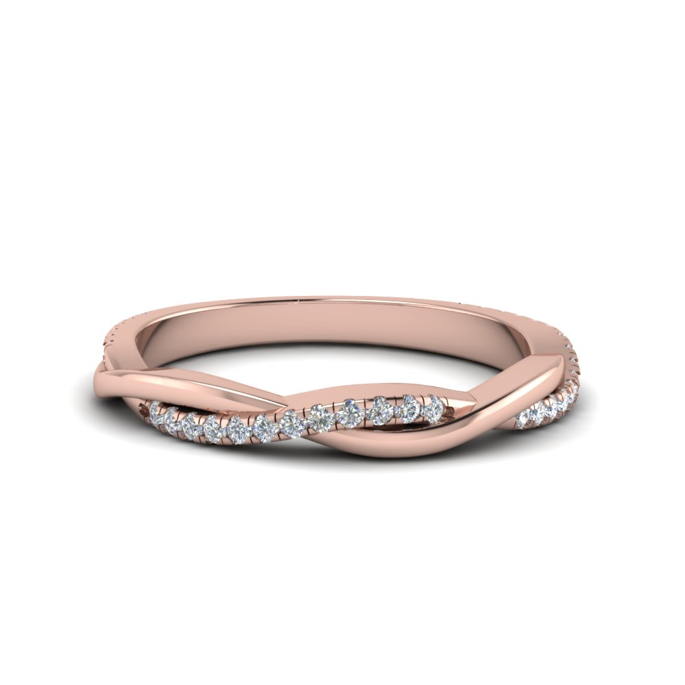 Twisted Vine 14k Rose Gold Band