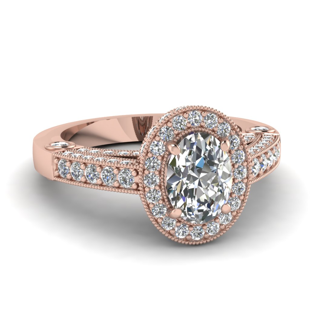 Romantic Vintage Rose Gold Engagement Rings At Affordable Price Fascinating