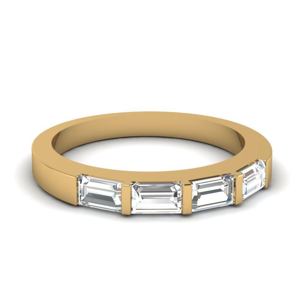 horizontal baguette wedding band fascinating diamonds