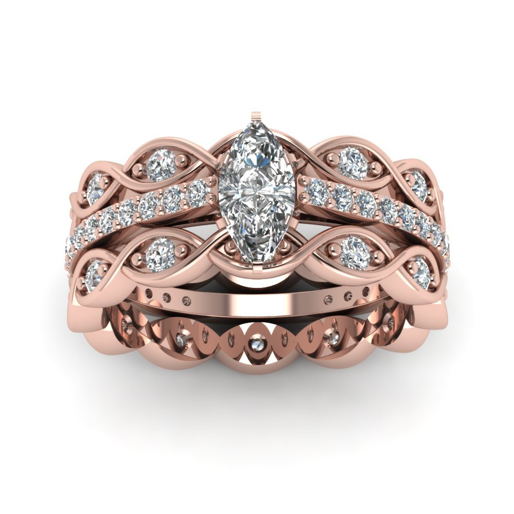 infinity wedding rose gold style diamonds diamond zoom loading set with cut micro full bands carats totaling band