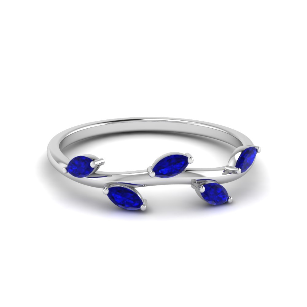 Marquise Sapphire Leaf Band