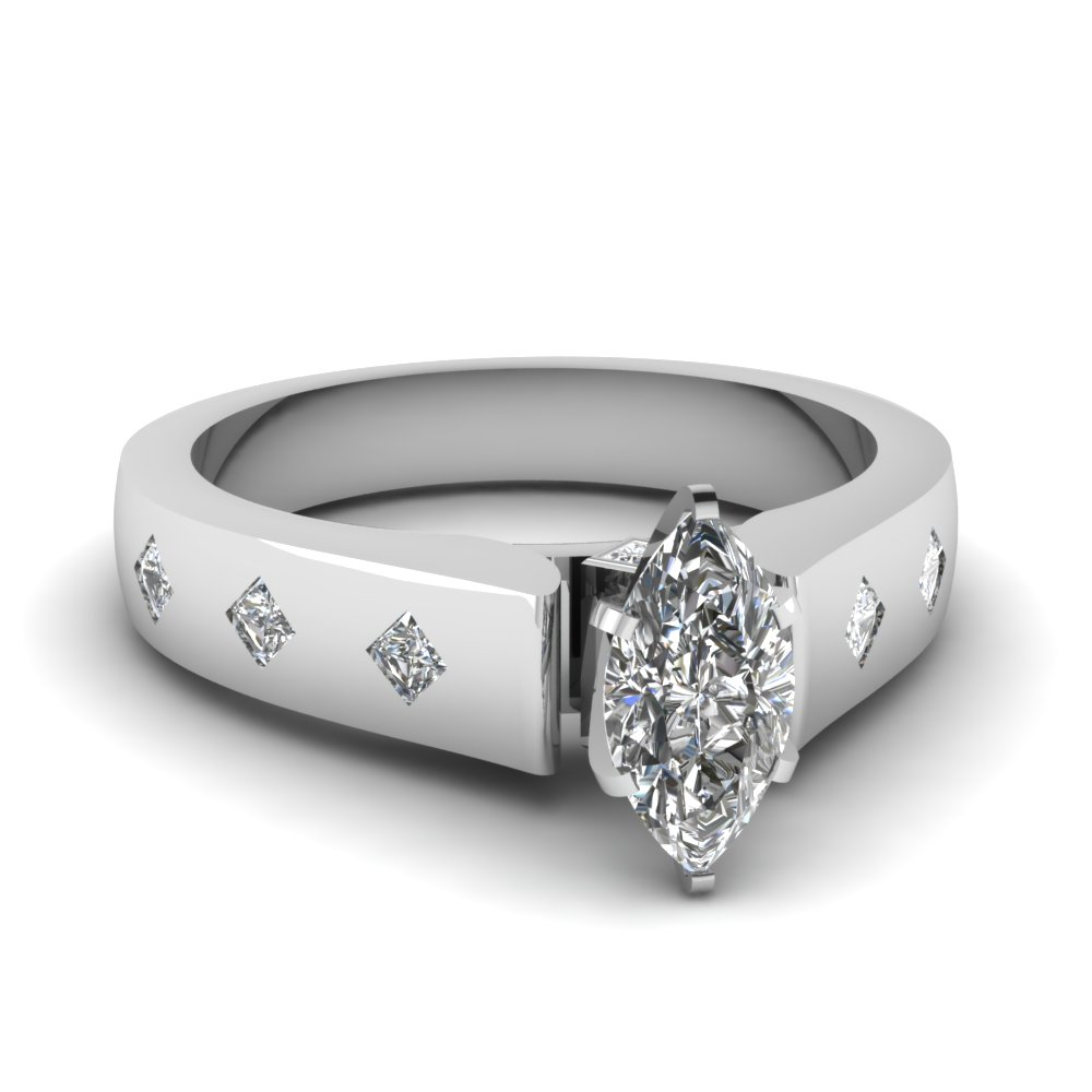 engagement settings ring jewellery shank diamond pear shaped cathedral rings platinum view in latest