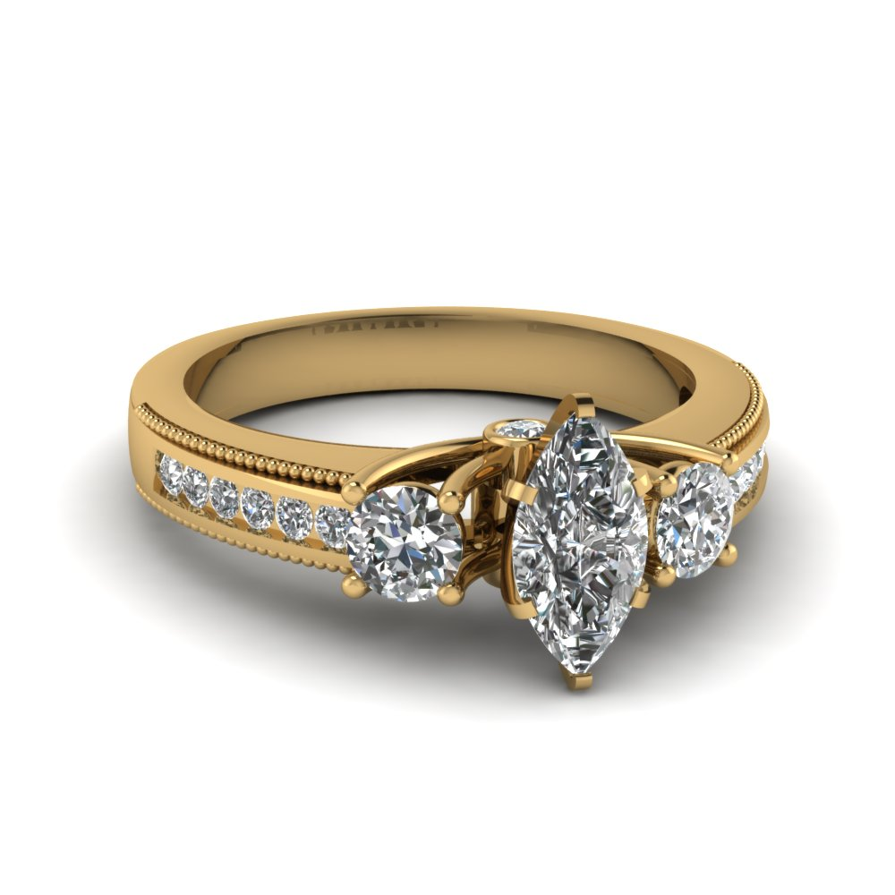 Three Stone Engagement Ring Setting Only