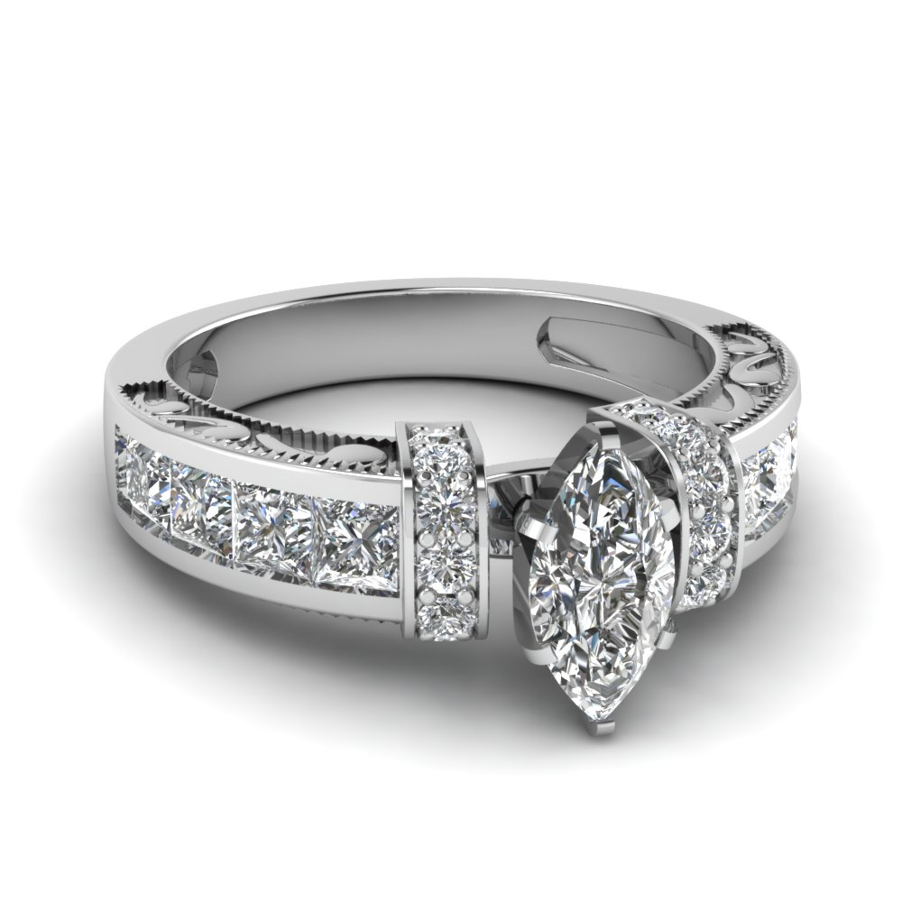 Special fers Marquise Vintage Engagement Rings