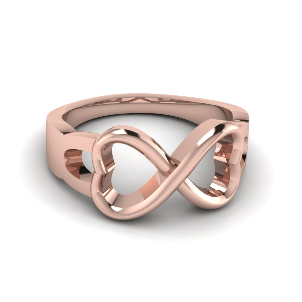 Infinity Gold Proposal Ring For Him Or Her