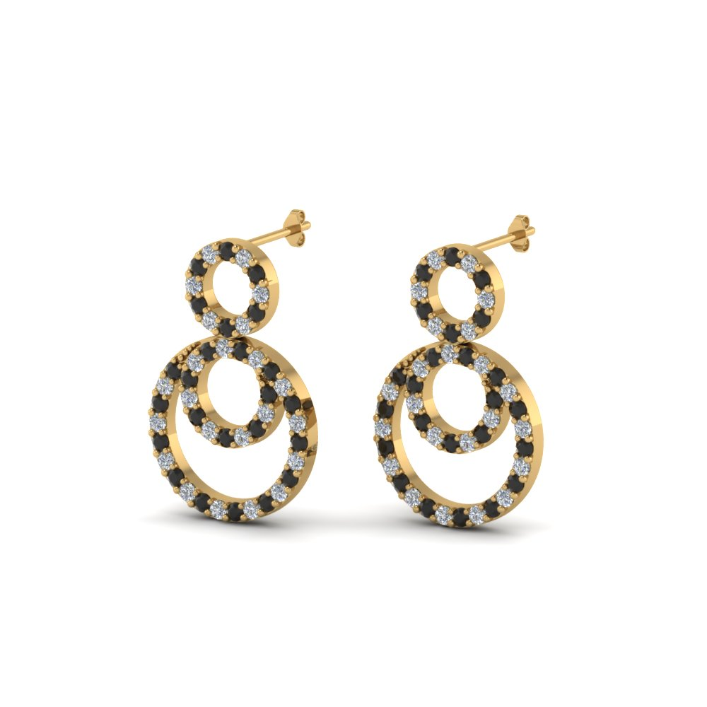 Open 3 Circle Small Drop Earring