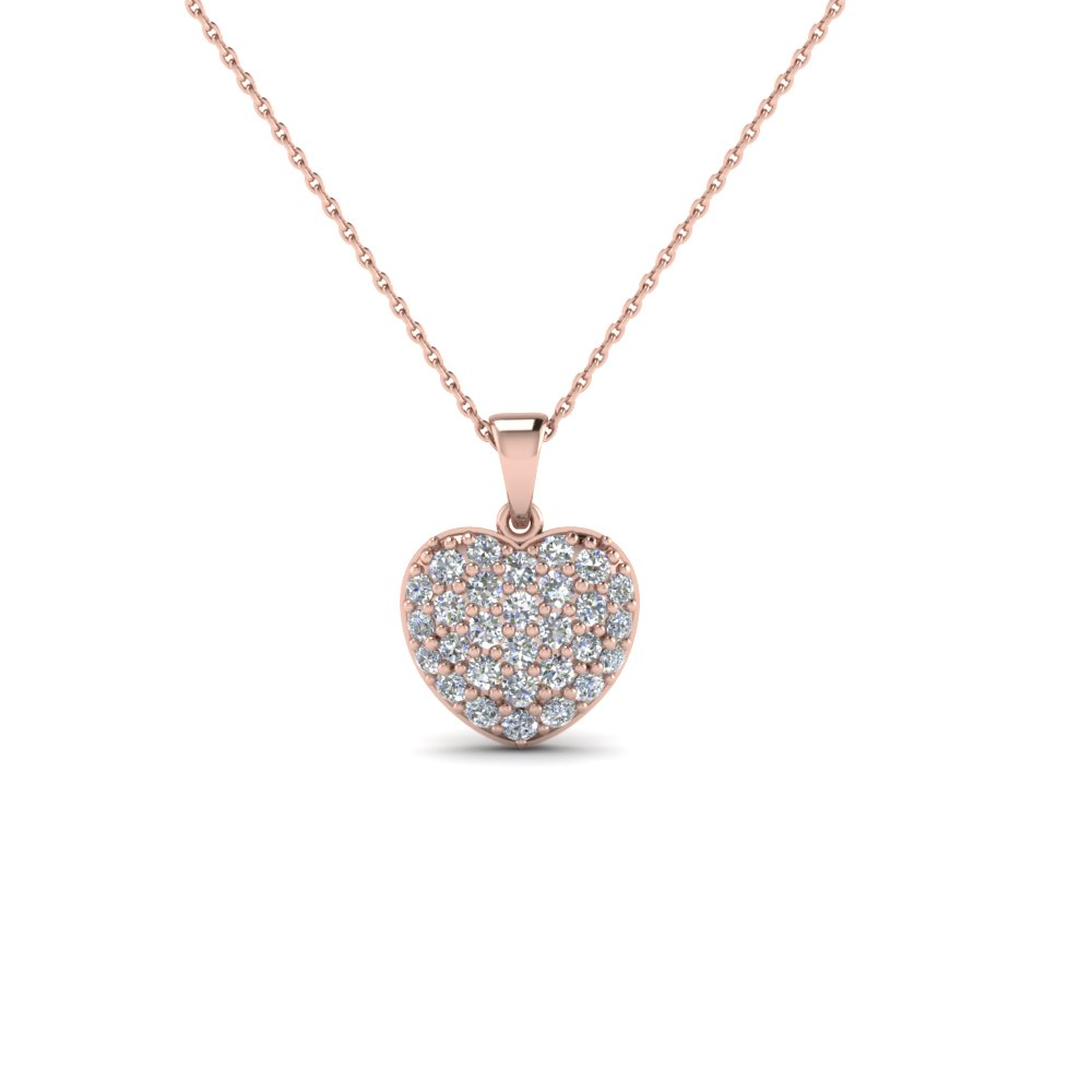 Cluster Pave Diamond Necklace For Women