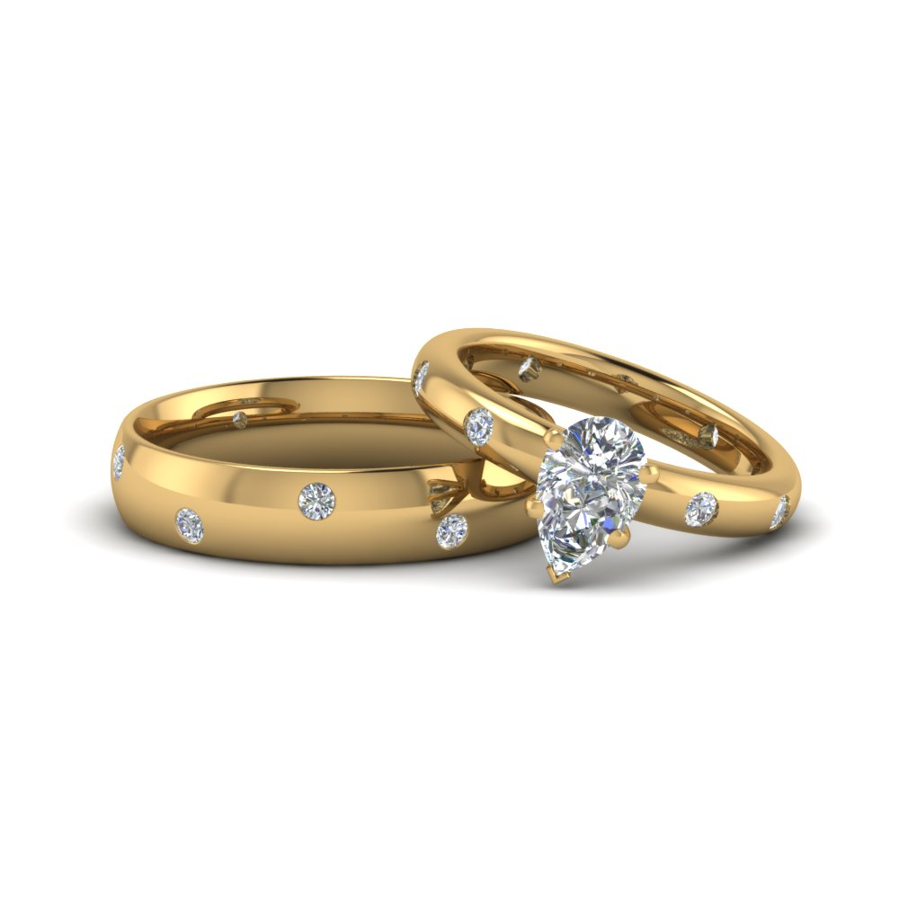 Him And Hers Matching Promise Rings Yellow Gold