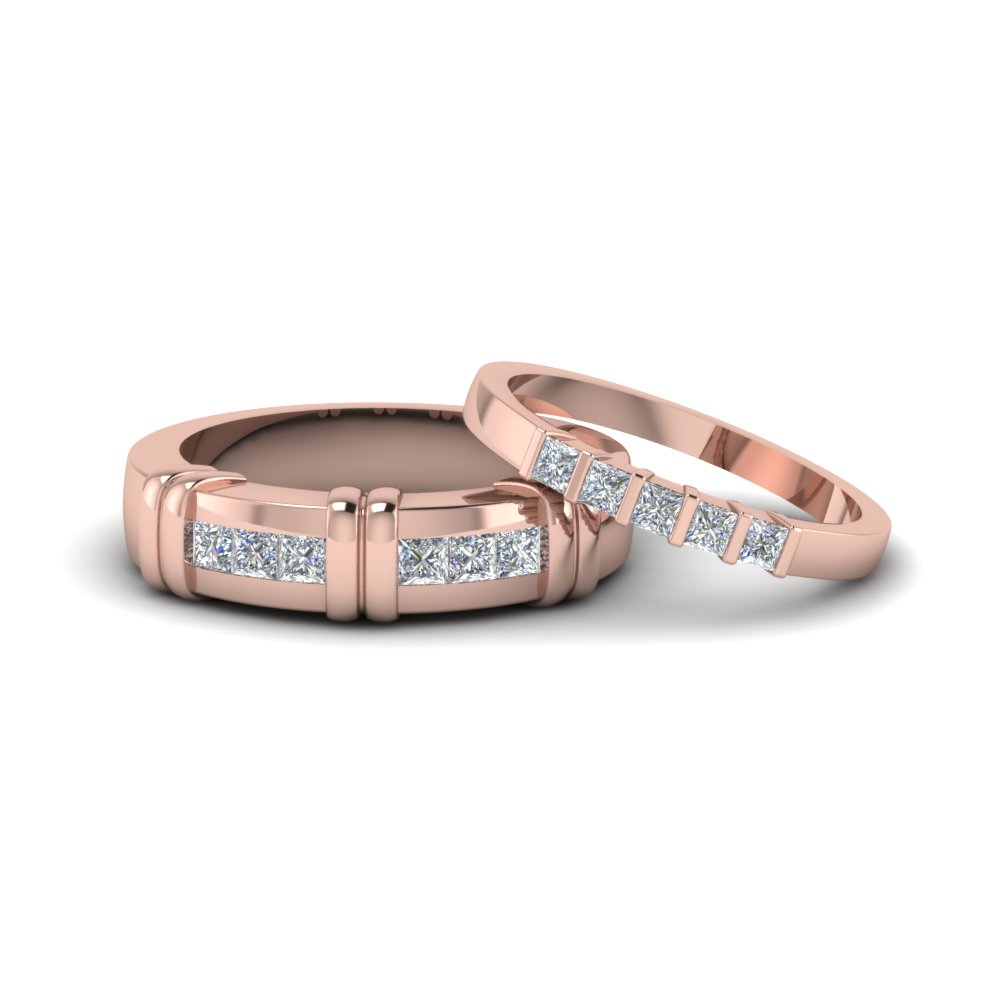 Channel Bar Set Matching Ring For Couples