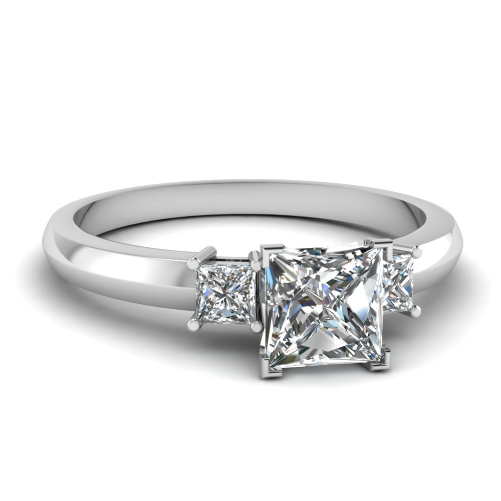 simple princess cut 3 ring fascinating