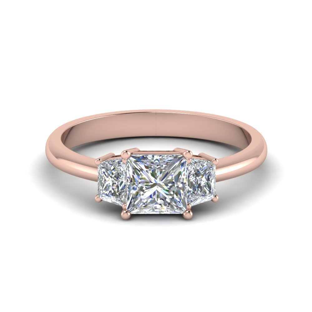 trapezoid princess cut diamond engagement ring in FDENR7981PRR NL RG